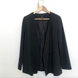 Forever 21 pinstripes double breasted blazer